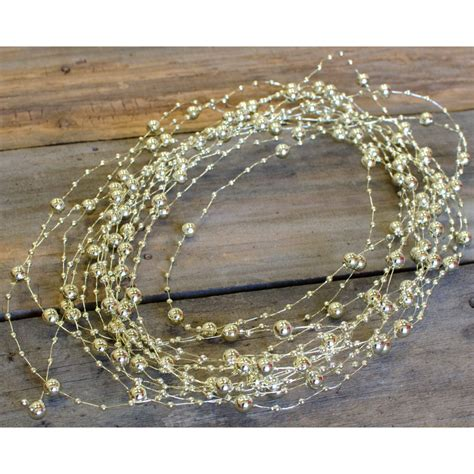 gold bead garland beaded wire garland 10 yards gold bd201 27