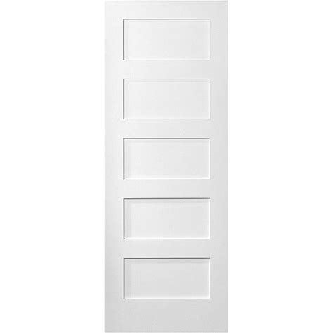 interior panel doors home depot masonite 36 in x 80 in mdf series smooth 5 panel equal solid primed composite single