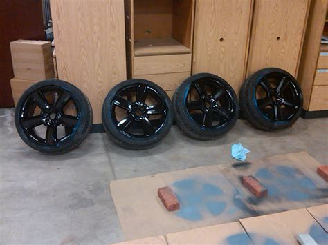 spray painting wheels black paint the rims black or not