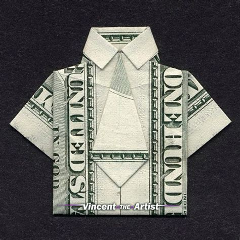 dollar bill shirt origami 20 best images about student graduation gift ideas on