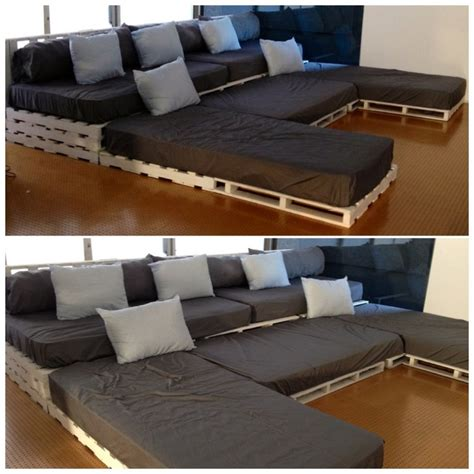 diy sofa bed u shaped pallet sofa ideas pallet wood projects