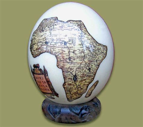 decoupage ostrich eggs ostrich egg decoupage map africa 1