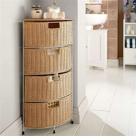 bathroom storage drawer wicker bathroom furniture drawer corner storage homes