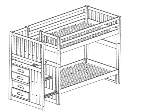 bunk bed blueprints bunk beds with stairs plans bed plans diy blueprints