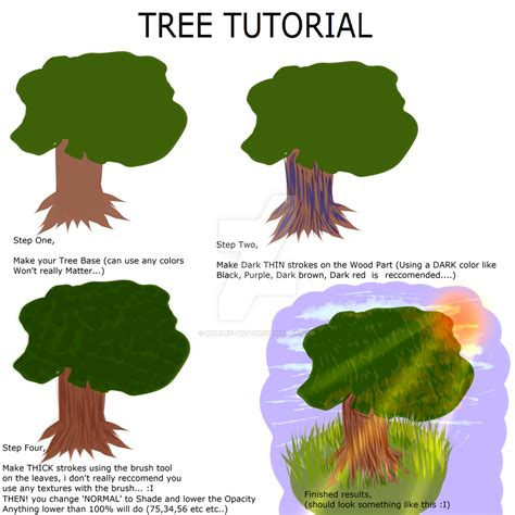 paint tool sai grass tree tutorial for paint tool sai users by marley on