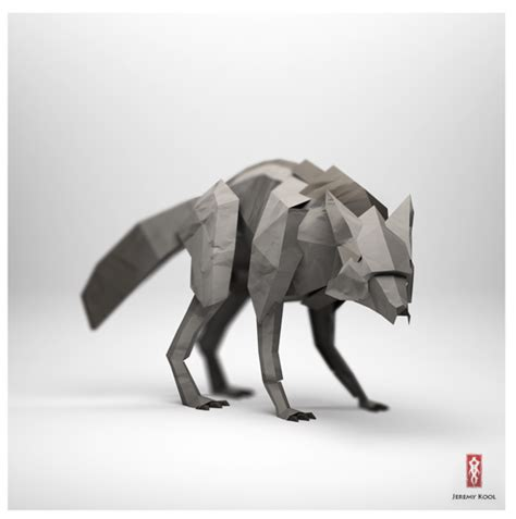 origami wolf 3d origami illustrations of animals motley news