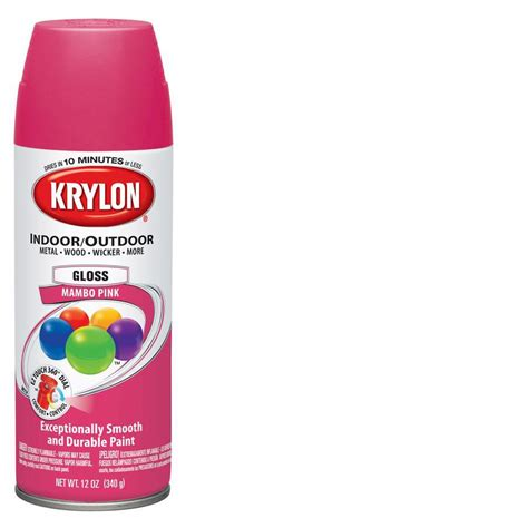 krylon spray paint shop krylon 12 oz mambo pink gloss spray paint at lowes