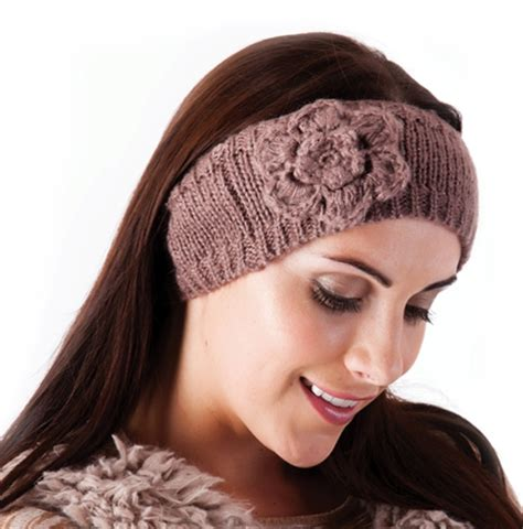 how to knit hair band womens wool knitted headband winter ski hair