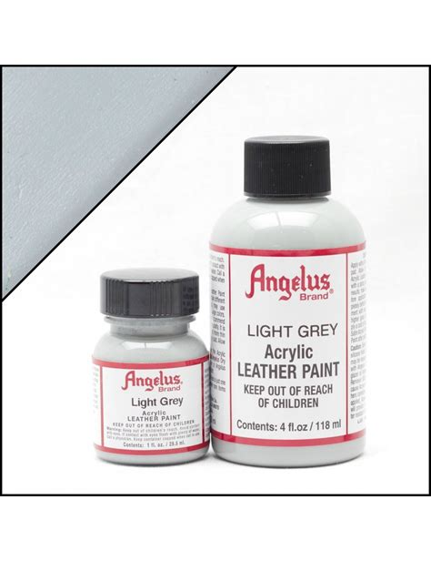angelus paint grey angelus dyes paint light grey 4oz leather paint