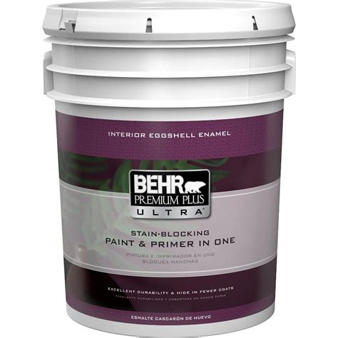 home depot 5 gallon interior paint behr premium plus ultra 5 gal medium base eggshell enamel interior paint 275405 the home depot