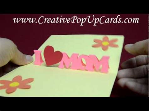 how to make simple mothers day cards s day pop up card simple version
