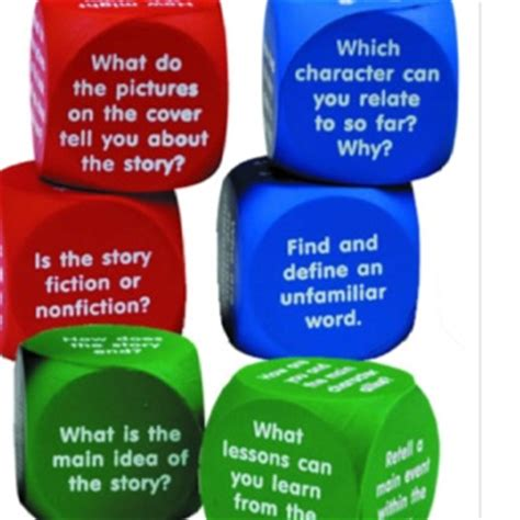 read dice 17 best images about comprehension response activities on