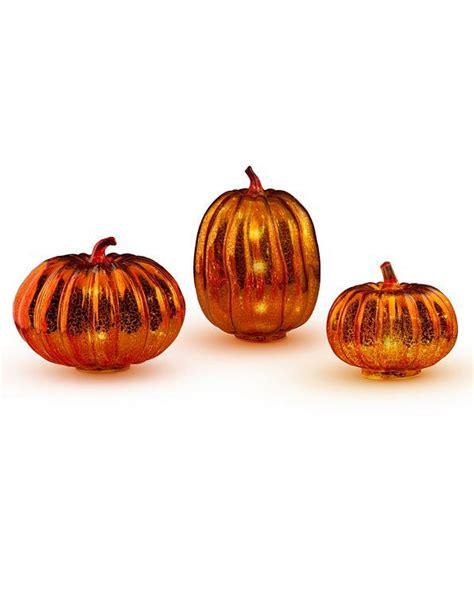 lighted pumpkin decor fall boutique orange mercury glass lighted pumpkins gourds