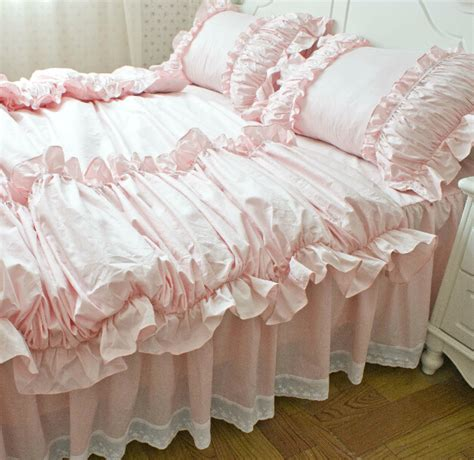 ruffled bedding sets buy wholesale pink bedding from china pink bedding