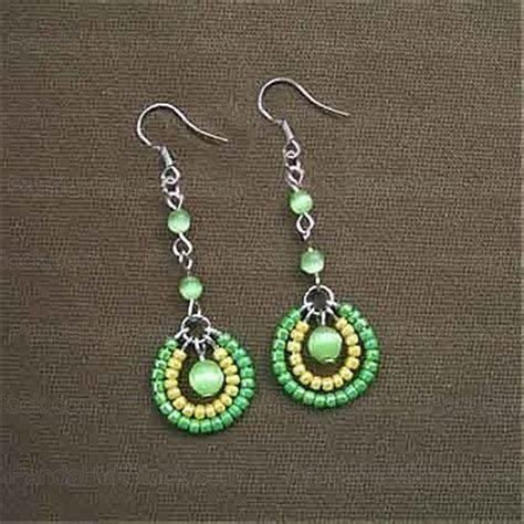 how to make beaded jewelry earrings how to make seed bead earrings 4 step seed bead