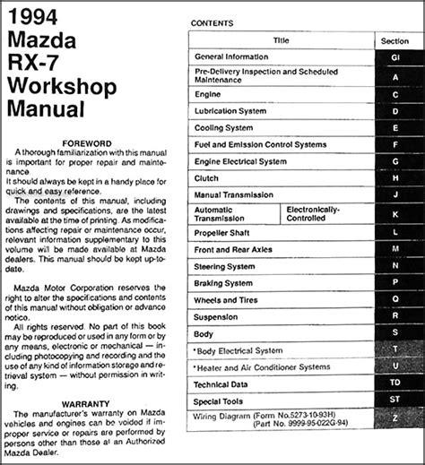 car repair manuals online free 2005 mazda rx 8 parental controls service manual repair manual 1994 mazda rx 7 free