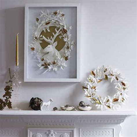 paper craft ideas for home decor 15 winter decorating ideas inviting deer into modern home