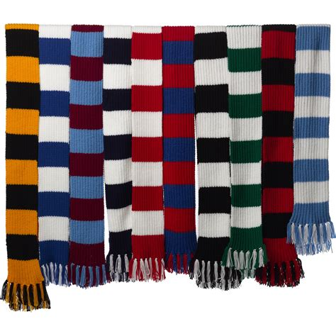 hobby knit wool craft hobby knitted scarf kit football rugby dk
