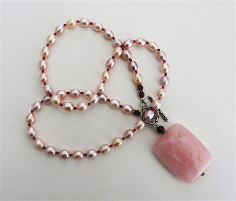 handmade jewelry handmade pearl necklace with quartz handmade jewelry
