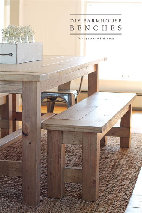 how to make a dining room bench diy farmhouse bench grows
