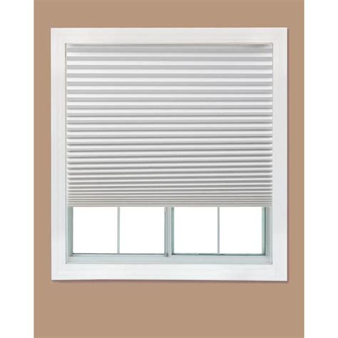 interior windows home depot redi shade white paper light filtering pleated shade 48 in w x 90 in l 4 pack 1601091