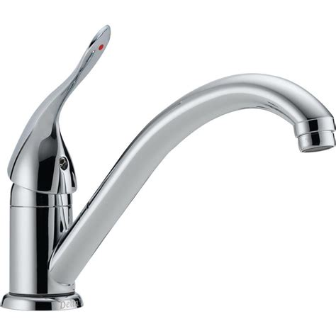 chrome kitchen faucet peerless single handle standard kitchen faucet in chrome p110lf the home depot
