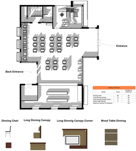 fast food restaurant floor plan fast food project autodesk gallery