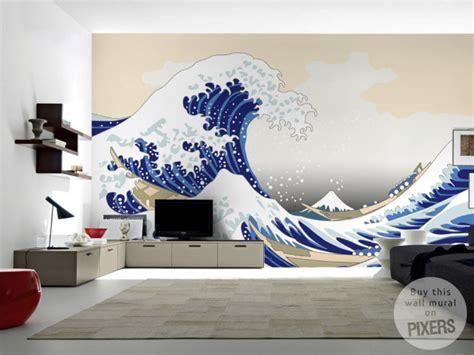 pixers wall murals japanese wave wall mural inspirations pixersize