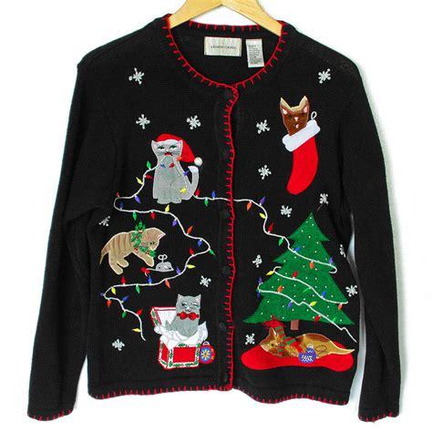 tacky sweater deformed kitties and grumpy cat tacky