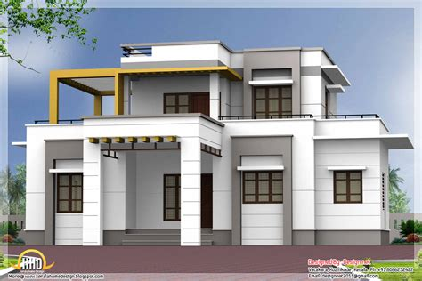 modern 3 bedroom house design 3 bedroom contemporary flat roof house kerala home