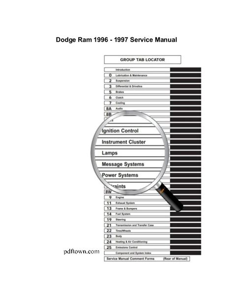 dodge ram 1995 2009 repair manual