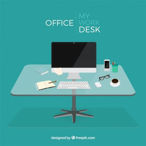 free office desks office desk vector free
