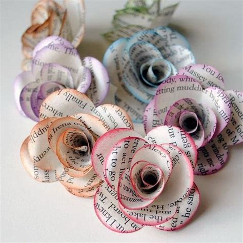 crafts with white paper best 25 book page flowers ideas on book