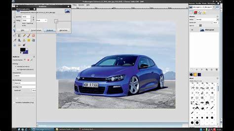 Car Photoshop Program by Gimp Tutorial Auto Tuning Teil 1
