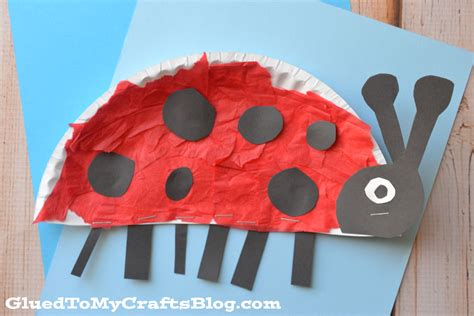 ladybug paper plate craft arts and crafts for ideas paper plate bug paper