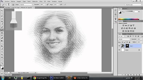 drawing in photoshop photoshop drawing effect efecto dibujo
