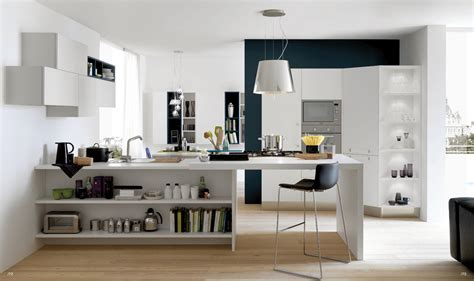 modern open kitchen design open modern kitchens with few pops of color