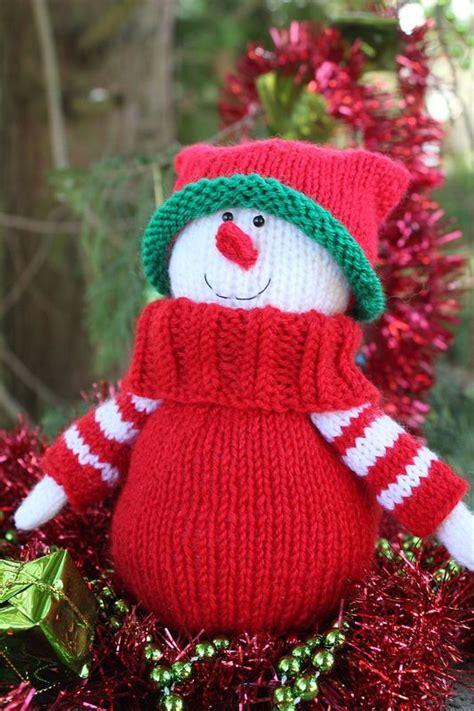 free knitting patterns snowman snowman knitting pattern
