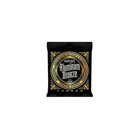 light guitar strings ernie 2568 aluminum bronze light acoustic 11 52