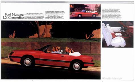 all car manuals free 1985 ford mustang instrument cluster directory index ford mustang 1985 ford mustang 1985 ford mustang brochure