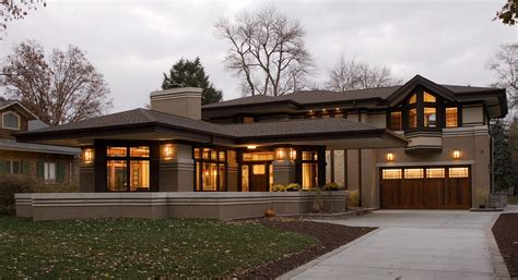 frank lloyd wright prairie style house plans residential gallery prairiearchitect