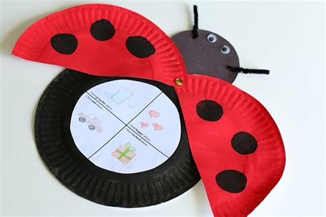 ladybug paper plate craft the grouchy ladybug craft for with free printable