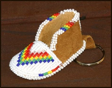moccasin beading designs beaded moccasin keychain awesome beading