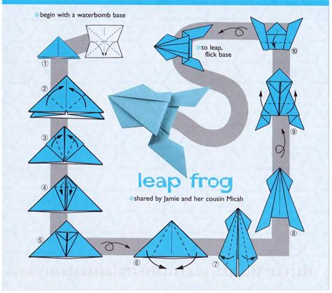 leaping frog origami origami jumping frog square paper