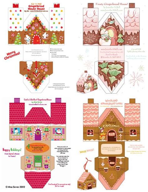 print out paper crafts printable paper gingerbread houses and gingerbread on