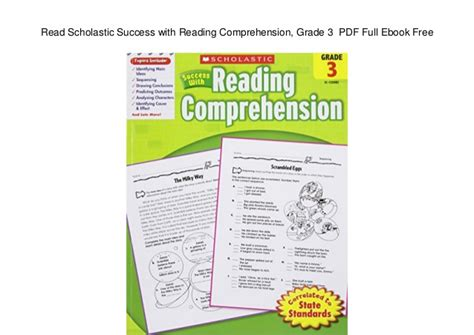scholastic success with reading comprehension grade 3 read scholastic success with reading comprehension grade