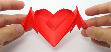valentines day origami how to fold origami bat winged hearts for s day