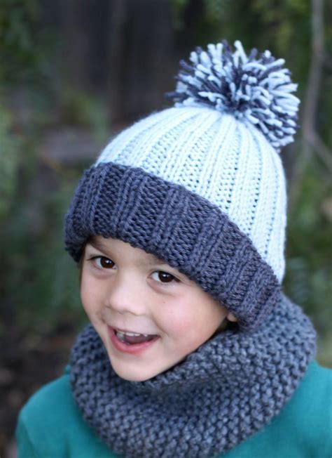 children s knitted hat patterns beginner easy ribbed pom hat easy free pattern and