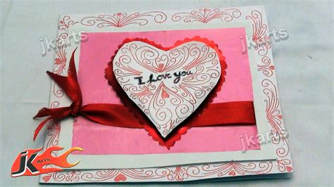 how to make greeting card diy how to make quot i you quot greeting card jk arts 153