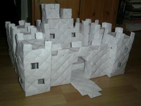 how to make a origami castle modular origami castle 1 by fuzzymo1994 on deviantart